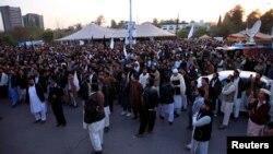 اسلام آباد میں پشتونوں کا اپنے حقوق کے لیے مظاہرہ۔ فائل فوٹو