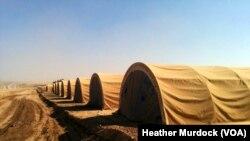 صوبہ خضر میں پناہ گزینوں کےلیے قائم کیا جانے والا کیمپ، 22 اکتوبر 2016