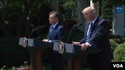 نشست خبری پرزیدنت ترامپ و «مون جا-این» روسای جمهوری آمریکا و کره جنوبی در کاخ سفید