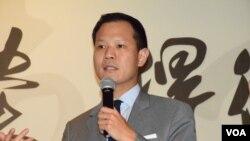 香港立法會選舉法律界功能組別候選人郭榮鏗(VOA湯惠芸攝)