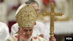 Paus Benedictus XVI di Vatikan (foto: dok.). Vatikan menyetujui pengangkatan Paul Liang Jiansen sebagai Uskup di Jiangmen, Tiongkok selatan.