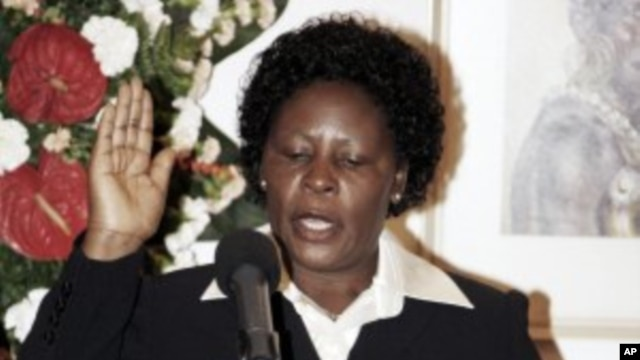 Nancy Baraza takes oath of office as the new Deputy Chief Justice during the swearing-in ceremony at State House, Nairobi, Kenya. (File Photo - June 20, 2011)
