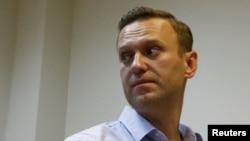 Алексей Навальный в Симоновском суде Москвы, 2 октября 2017. Photo: Sergei Karpukhin (Reuters)