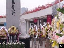 香港各界敬献的鲜花