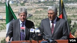 کنفرانس مشترک خبری آصف رحیمی والی هرات و وزیر خارجۀ ایتالیا