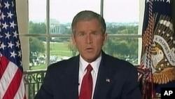 رئیس جمهور جورج بش جنگ بر ضد طالبان را اعلان کرد