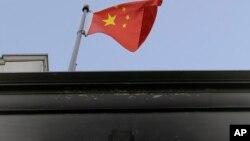 被人纵火焚烧后的中国驻旧金山领事馆。