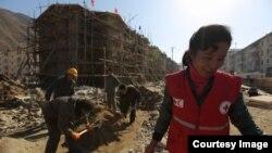 함경북도 무산군의 수해 피해 현장. 사진 출처 = 국제적십자사 IFRC 웹사이트.