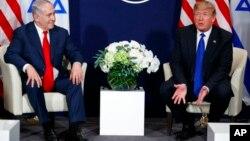 Дональд Трамп с премьер-министром Израиля Биньямином Нетаньяху