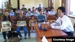 Luật sư Võ An Đôn trong phiên xử vụ công an đánh chết anh Ngô Thanh Kiều.