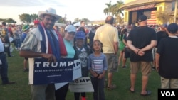 Trump supporters gather in Boca Raton, Florida, Sunday, March 13, 2016. (Photo by W. Gallo/VOA)