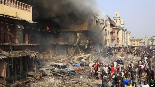 Bà Ogar nói rằng nhóm này nhắm tấn công các cơ sở ở Lagos (ảnh minh họa - AP Photo/Jon Gambrell)