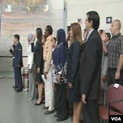 Sa jedne od svečanosti polaganja zakletve nakon koje imigranti postaju punopravni gradjani Sjedinjenih Država