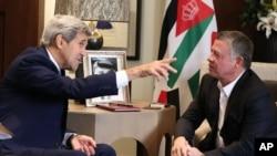 Встреча Джона Керри с королем Абдуллой в Аммане