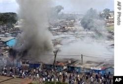 Kenya post-election riots 31 Dec 2007