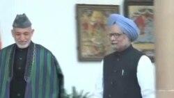 卡尔扎伊访问印度敦促增加对阿投资