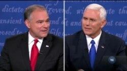 Хто зможе жорсткіше протистояти агресії Володимира Путіна - сперечалися кандидати у віце-президенти США на теледебатах. Відео