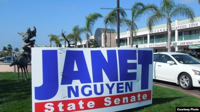Vận động tranh cử của Janet Nguyễn ở Quận Cam (ảnh Bùi Văn Phú)
