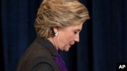 Hillary Clinton ta jam'iyyar Democrat wadda ta fadi zaben shugaban kasar Amurka