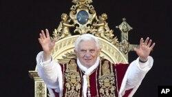 罗马天主教皇本笃十六世12月25日在梵蒂冈圣彼得广场发表演讲