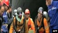 Nhân viên cứu hộ đang làm việc tại một tai nạn mỏ ở Trung Quốc