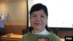 香港記協前主席麥燕庭 (美國之音記者申華拍攝)