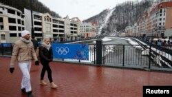 俄羅斯的索契冬季奧運的其中一家渡假酒店準備。