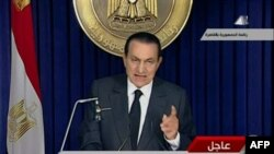 Президент Госні Мубарак під час звернення до народу