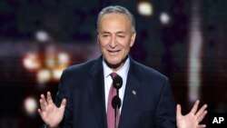 Sen. Chuck Schumer of New York addresses the Democratic National Convention in Charlotte, N.C., Sept. 5, 2012.