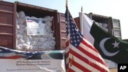 آفات سے نمٹنے کے ادارے کو 858 امریکی خیموں کی فراہمی