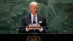 美国总统拜登在联合国大会上发表讲话 (2021年9月21日)