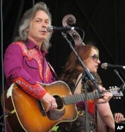 Jim Lauderdale and Bryn Davies perform at Merlefest 2010
