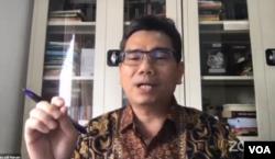 Direktur Eksekutif LSI, Djayadi Hanan (foto: tangkapan layar/Sasmito).
