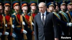 6月22日俄罗斯总统普京参加纪念苏联卫国战争活动