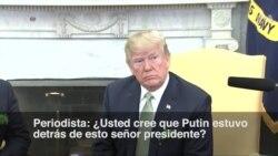 """Trump: """"Parece que los rusos estaban detrás de esto"""""""