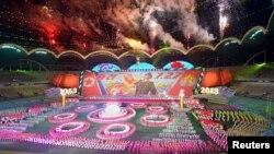 정전 60주년인 지난해 7월 북한 평양에서 대규모 집단체조 '아리랑' 공연이 열렸다. (자료사진)