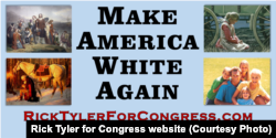 In June 2016, Tennessee congressional candidate Rick Tyler's campaign posted this billboard in Polk County, Tennessee.