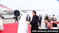 ابوظہبی کے ولی عہد ایک روزہ دورے پر پاکستان پہنچے تھے۔