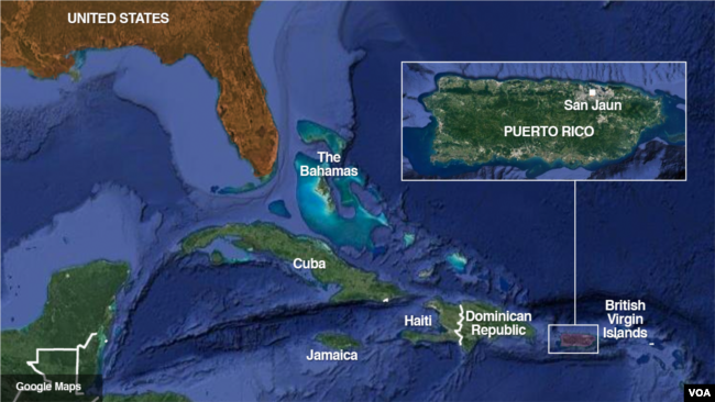 Puerto Ricans Vote To Become St US State - Us caribbean territories map