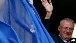 塞爾維亞極端民族主義領袖沃伊斯拉夫•舍舍利(資料照片)