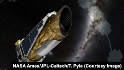 FILE - Artist's impression of the Kepler spacecraft in one of its observing configurations