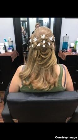Salah satu kreasi tata rambut karya Yvonne (foto courtesy)