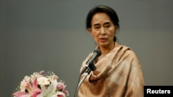FILE Burma's pro-democracy leader Aung San Suu Kyi