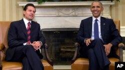 El presidente Barack Obama con el mandatario mexicano Enrique Pena Nieto, en la Casa Blanca; el 22 de julio de 2016.