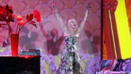 Singer Miley Cyrus performs during the World Music Awards at Monte Carlo Sporting Club, on May 27, 2014 in Monaco.