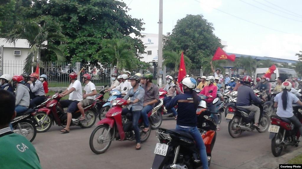Trong một cuộc biểu tình tại Đồng Nai.