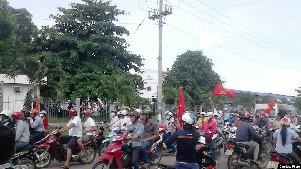 Trong một cuộc biểu tình chống Trung Quốc tại Đồng Nai.