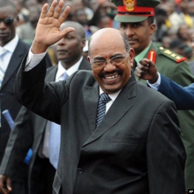 FILE - Sudanese President Omar al-Bashir arrives at the promulgation of Kenya's New Constitution at the Uhuru Park grounds in Nairobi, Aug. 27, 2010.