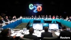 澳大利亚总理阿博特主持G20峰会