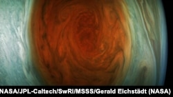 This enhanced-color image of Jupiter's Great Red Spot was created by citizen Gerald Eichstädt using data from NASA's Juno spacecraft ( Credit: NASA/JPL-Caltech/SwRI/MSSS/Gerald Eichstädt.)